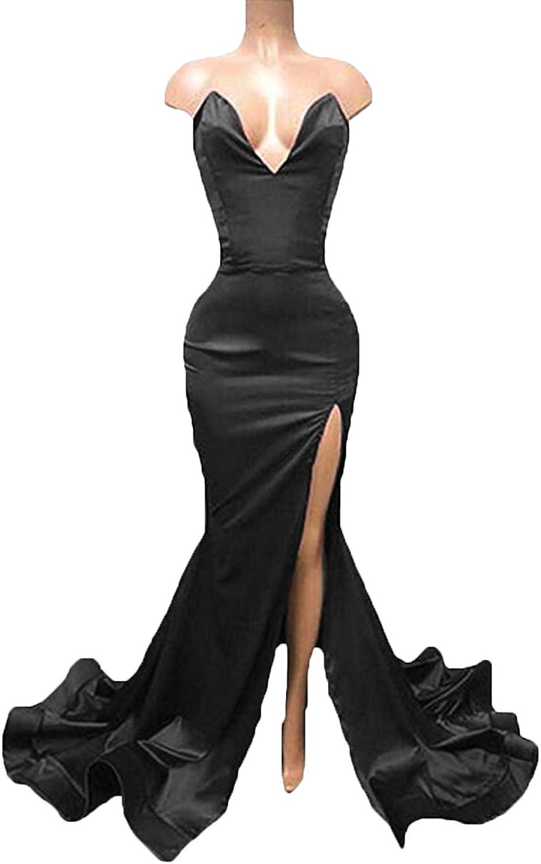 Graceprom Sweetheart Backless Prom Dress gold Appliques Mermaid Evening Dress