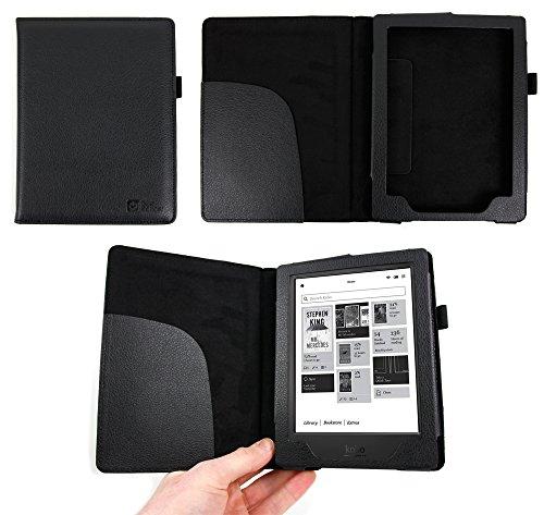 puissant Etui cuir noir style livre DURAGADGET pour Kobo Aura H2O (H20) édité par la FNAC en 2014…