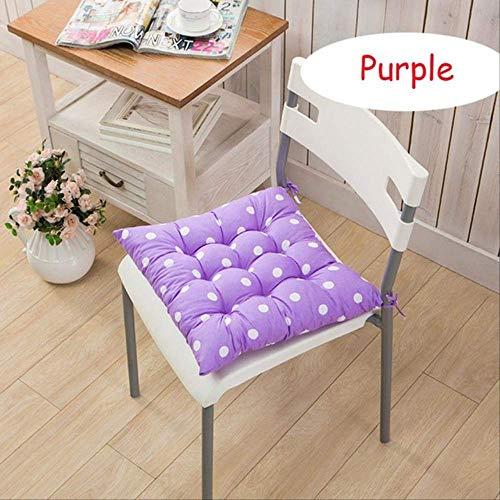 NoNo Lange vierkante kussens mat voor schommels rotan stoel Folding Dicktuin zon Lounge Seat Kussen Bank Tatami Mat 50x50cm lila