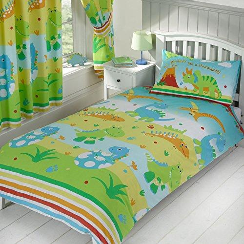 cortinas infantiles niño dinosaurios