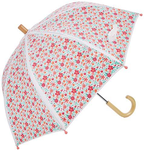 Hatley Mädchen Printed Umbrellas Regenschirm, Weiß (Summer Garden 100), One size