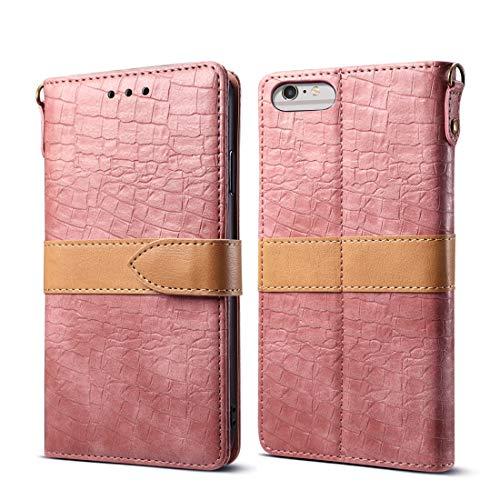 Xyamzhnn Teléfono Funda de Cuero Protectora for el iPhone 6 Plus y Plus st 6s (Color : Pink)