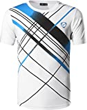 jeansian Homme De Sport Outdoor Quick Dry Short Sleeved Men's Tee Tops T-Shirt LSL133_White_XL(XXL)