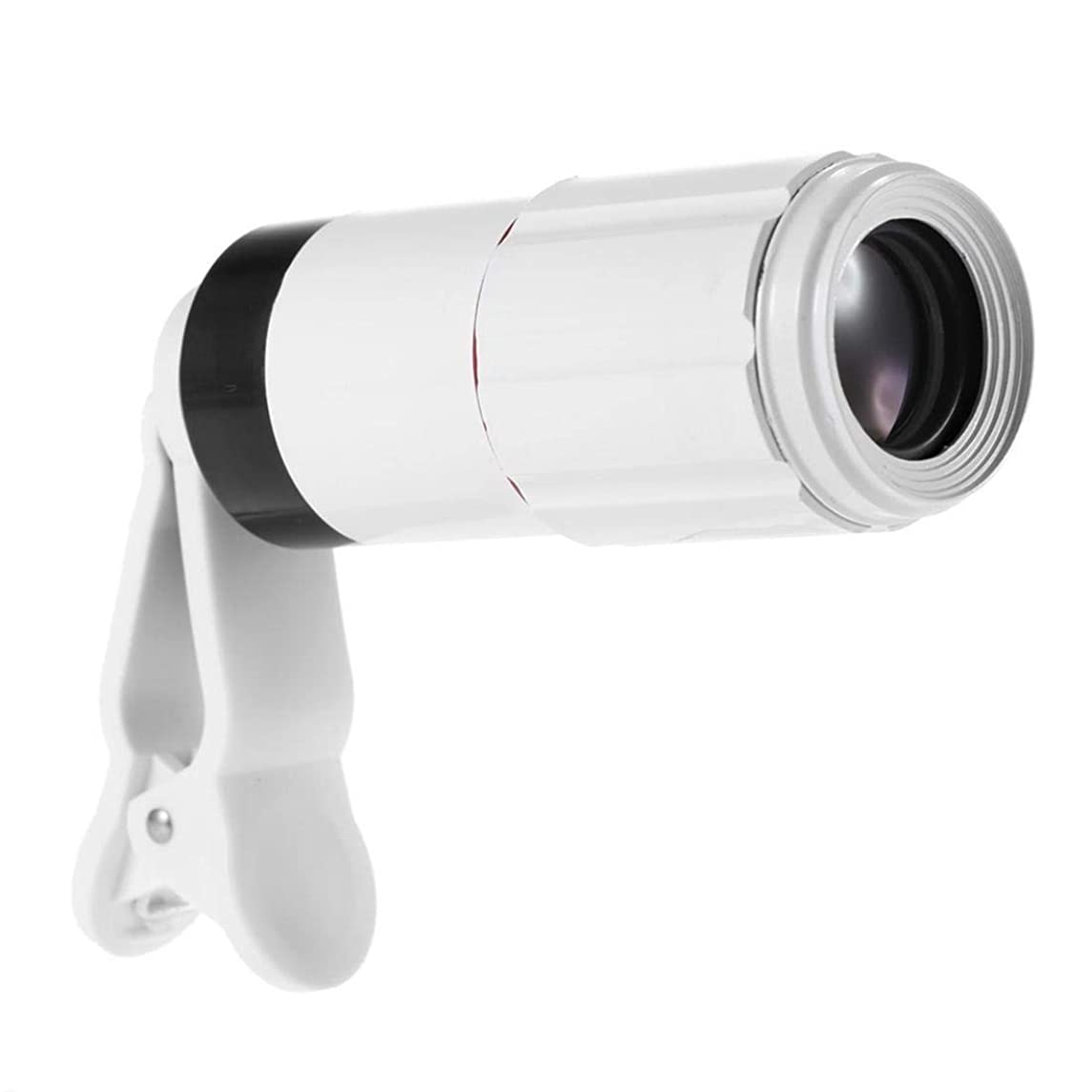 Lxn 8X Zoom Phone Telephoto Camera Lens with Clip - Black White