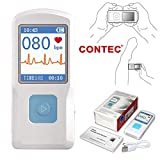 CONTEC Portable ECG/EKG Monitor PC Software Electrocardiogram Bluetooth Heart...