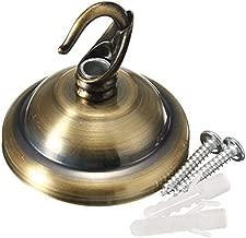 AtFipan Vintage Ceiling Rose Hook Plate Holder For Light Fitting Chandelier Lamp-Antique Brass