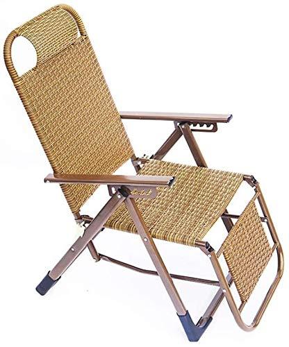 PIAOLING Sillón Tumbona, Silla de jardín Plegable  Silla Plegable con Respaldo Ajustable  Sillón de Relax Adecuado para jardín y terraza.