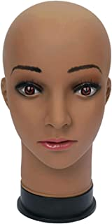 Mannequin Head for Wigs Making wig Display Practice Training Styling Bald Professional Cosmetology Female With Mount Hole