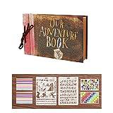 Scrapbook Our Adventure Book Álbum de Fotos Libro de Visitas de Boda con 80 Páginas Presentes para Regalo de Valentín Día de Aniversario Navidad Cumpleaños para Esposa Hija Madre