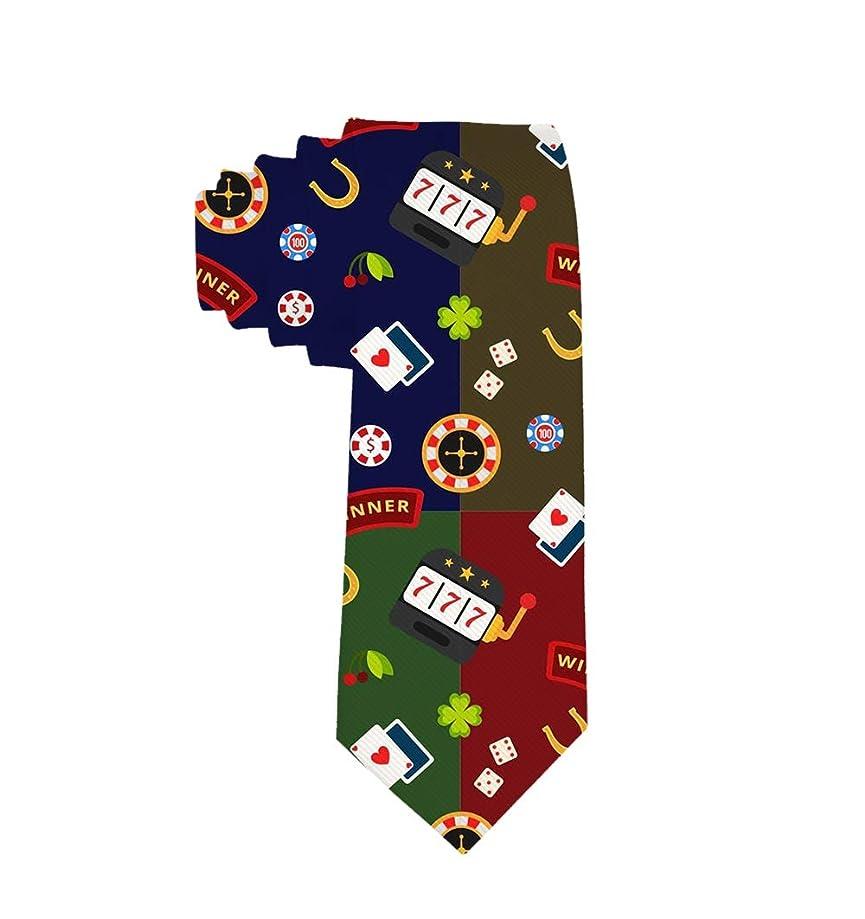 New Polyester Textile Men's Neckties Gambling Tools Neck Ties For Men Gift