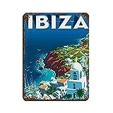 Vintage Retro Reise Poster Ibiza Blechschild Vintage Metall