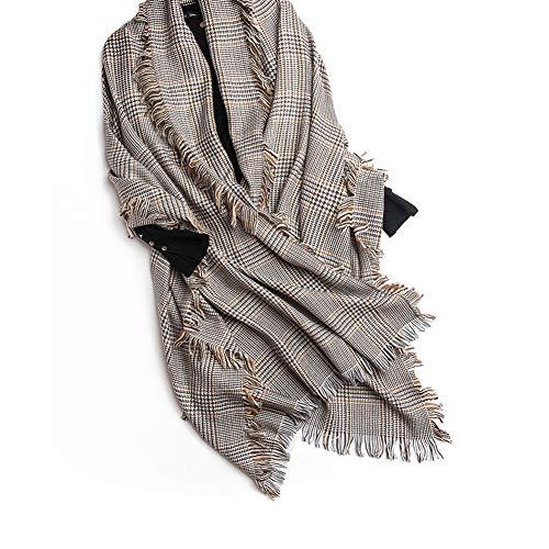 TIANPIN Winter warme sjaals wol sjaal geruite sjaal kwast stijlvolle lange sjaal wrap dames