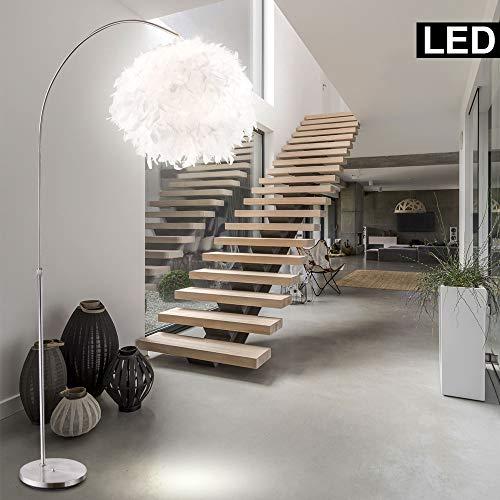 10W LED Feder-Stehlampe Leuchte Höhenverstellbar Design Beleuchtung Bogen-Lampe Wohn- Schlaf- Zimmer