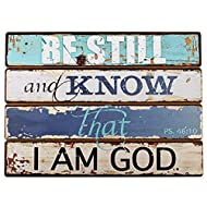 Christian At Gifts Wall Art Home Décor | Be Still and Know – Psalm 46:10 Bible Verse Inspirational Wall Plaque | Decoupaged Wooden Wall Art, Lighthouse Collection , 14 x 19 Inches