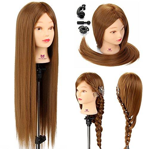 Neverland Kid Connection - Cabeza de maniquí para prácticas de peluquería (66 cm)