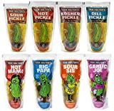 Try all 8 of Van Holten's Pickle in a Pouch Flavors Garlic Joe, Hot Mama, Big Papa, Sour Sis, Hot, Sour, Dill, and Kosher