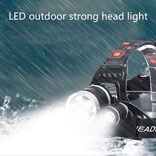 FGHSD buitenverlichting mistlamp 20 W T6 koplamp gemonteerd op de kop camping vissen 3 LED-koplampen