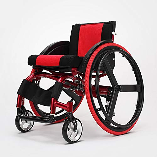 Opvouwbare rolstoel, lichtgewicht, draagbaar, casual aluminium, snelspanner, schokabsorberende ouderen, reizen, kleine fiets, barrow reis