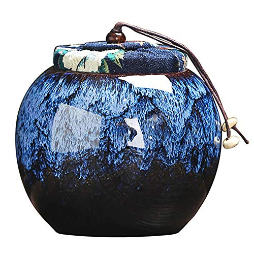 TOPRADE Pet Urns Bone Ash Cinder Cremains Cinerary Casket Perfect Resting Place for Cats Dogs (Blue)