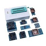 DollaTek programador universal usb, tl866ii plus programador flash programador para eeprom flash 8051 avr mcu gal pic con 10 adaptadores (programador host + 9adapter)