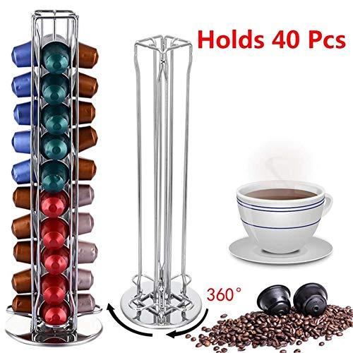 CCHM Kaffeepads Halter Drehständer Kaffeekapselständer Kapseln Lagerung Shelve Organisation Halter,1