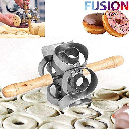 Fusion Heavy Duty Rotatorio Cortador de Donut Molde Rápida eléctrica DIY Herramienta Molde de Galletitas UK (TM)