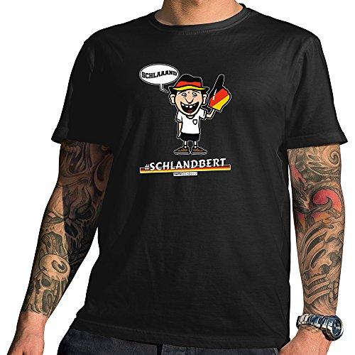 Hariz Pixbros Collection – Camiseta para hombre, color negro, diseños a elegir, camiseta de la Copa del Mundo de Alemania Pixbros07: Schlandbert. XXXL