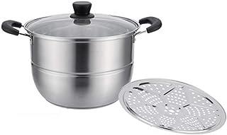 ollas para cocer al vapor grande Pasta cacerolas para induccion,Hogar Estufa de gas de acero inoxidable 304 / cocina de inducción universal 30cm