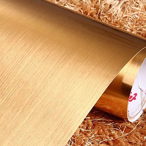 LUCHAO 3M / 5M Vinilo de PVC Auto-Adhesivo de Etiqueta de la Pared de Plata Cepillado Textura del Metal de Contacto Cocina de Papel Gabinete Etiquetas engomadas del refrigerador a Prueba de Agua