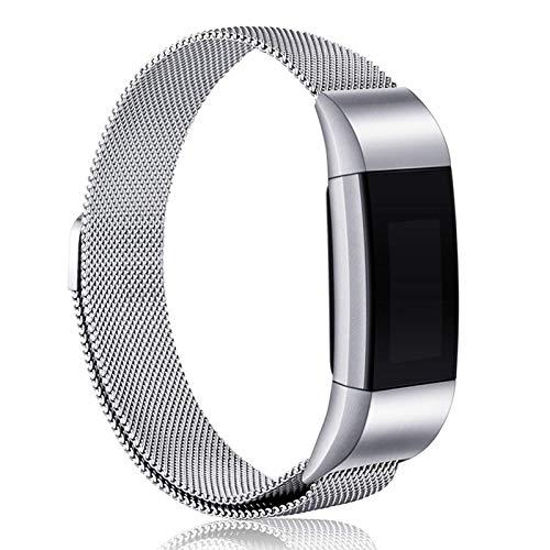 Adecuado para correas de repuesto Fitbit Charge 3 / Charge 4. Correa magnética de reloj inteligente. Anillo de malla ajustable. Correa de metal de acero inoxidable. Pulsera. Tamaño unisex