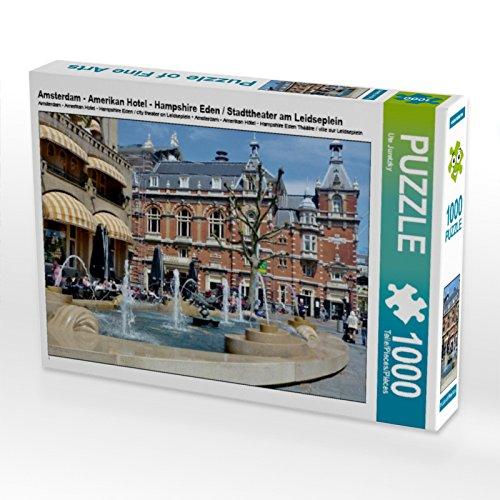 Amsterdam - Amerikan Hotel - Hampshire Eden / Stadttheater am Leidseplein 1000 Teile Puzzle quer
