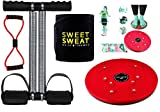 YUVI TRADERS Unisex Steel Tummy Trimmer -Sweat Belt-Twister -Toning Tube (4 in 1 Combo) Burn Off Tummy Fat Extra Calories Weight Loss ABS Exercise Fitness Equipment Home Gym- Multicolour