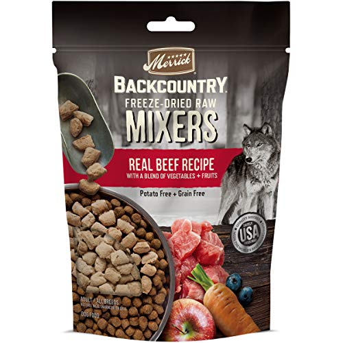 Merrick Backcountry Freeze-Dried Raw Dry Dog Food Mixers Real Beef Recipe - 12.5 oz Bag
