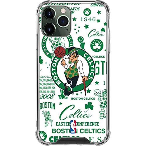 Skinit Clear Phone Case Compatible with iPhone 12 Pro Max - Officially Licensed NBA Boston Celtics Historic Blast Design