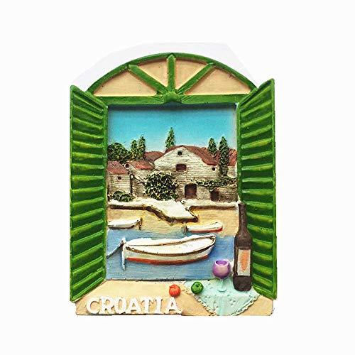 Croazia 3D frigorifero magnete viaggio souvenir regalo, decorazione casa e cucina adesivo magnetico Croazia frigorifero magnete collezione