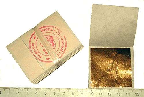 Packung mit 50 Blttern 24 K Gold 45 MM X 45 mm in Base 100% Ech