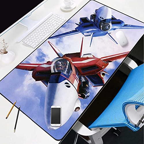 IYKTRFK Alfombrilla Suave Gaming para Ratón Avion Rojo Óptima Rapidez Y Control Medidas 700X300X3MM Grosor Goma Antideslizante Tela Texturizada De Microtejidos Adecuada para Jugadores