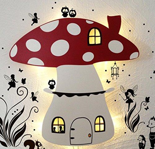 Lampe murale Luminaire pour Enfants répétition lampe lampe champignon Fées m879