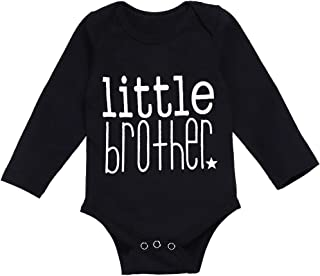 Newborn Baby Boy Girl Clothes Funny Letter Bodysuit Romper Outfits