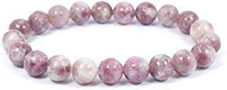 Reiki Crystal Products Natural Pink Tourmaline Bracelet 8mm for Reiki Healing and Vastu Correction Protection Concentration Spirituality and Increasing Creativity
