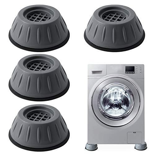 4 Stück Waschmaschine Füße Pad Fußpolster, Anti Vibration Waschmaschine Füße,Verstellbares Gummi-Fußpolster, Anti Rutsch Gummi Fußpolster Schwingungsdämpfer Vibrationsdämpfer für Waschmaschinen
