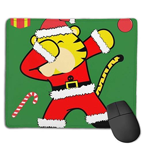 Dab Dabbing Pose Tijger Xmas Claus Kostuum Muis Pad Bundel gestikte randen Gaming Muis Mat Pad Niet Slip Rubber Base Dikke Mousepad