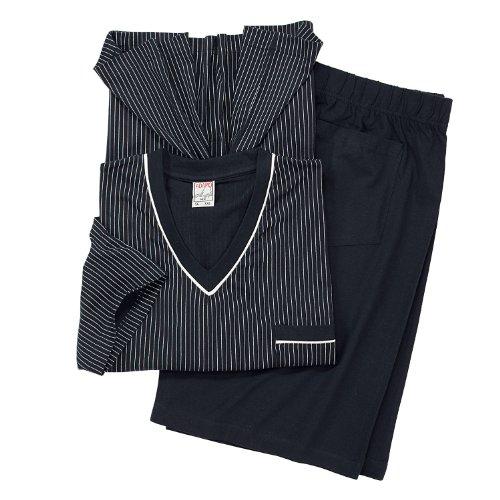 ADAMO Kurzarm Schlafanzug in dunkelblau Übergröße 10XL, Größe:6XL