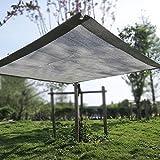 Malla sombreadora Sun Net Paño de Sombra UV con Borde Encintado Gris del 90% con Arandelas, Malla de Sombra para La Cubierta de Plantas Gazebo de Césped de Patio de Invernadero, 1/2/3/4 M de Largo