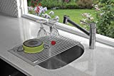 Better Houseware 1434 Over- Over-Sink Roll-Up Drying Rack, Grey