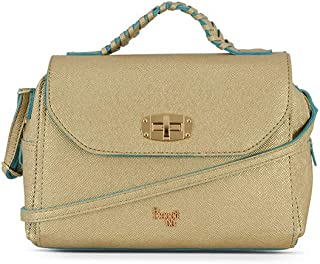 Baggit Women's Synthetic Satchel (Gold) (L Verna Y G Z)