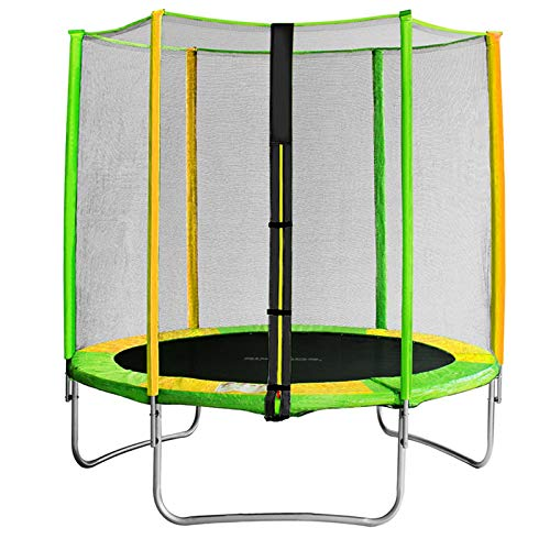 TureFans Tappeto Elastico Bambini, trampolini da Esterno, Trampolino per Bambino (con Rete di Sicurezza,B, Φ150cm)