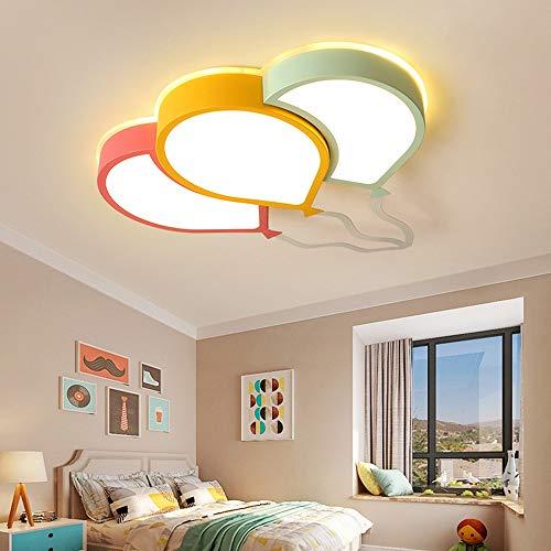 L.W.SURL Techo de Color Globo de luz LED sin escalonamiento Atenuación Moderna Minimalista Inicio Restaurante Hotel decoración de la lámpara (70 * 47 * 6 cm) Iluminación Colgante