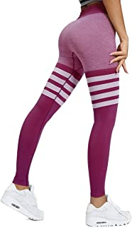 Women's High Waist Seamless Leggings Slimming Tummy Control Yoga Pants Stretchy Compression Workout Tights