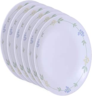 Corelle Livingware Secret Garden Dinner Plate Set 6 Pieces, White, 26.2 cm